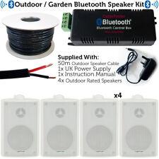 Outdoor/External Bluetooth Speaker System – Mini Amplifier 4x White Speakers Kit
