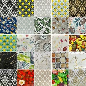 Wipe Clean PVC TABLECLOTH Vinyl Oilcloth Table Cloth Cover Protector Cafe Dining