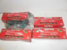 Holiday Style 35 Indoor Multi Lights 12' each, Lot of 4