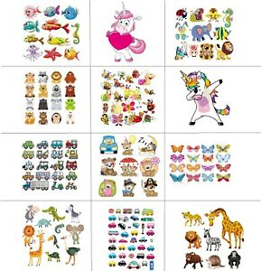 Childrens Iron-on Printed Patches Kids Transfer Sheet T-shirt PJs Christmas 1296