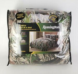 Remington 7 Piece Queen Comforter Camo W/ Sheet Set Bed Skirt & Shams Reversible