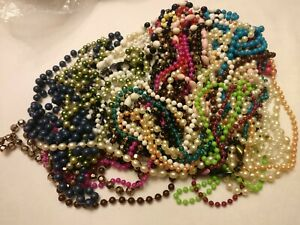 20+ fixed bead necklaces