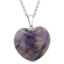 Sterling Silver Heart Necklace Pendant Jewelry Love Crystal Women Stone Heart