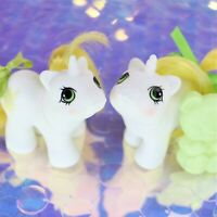 Vintage My Little Pony Newborn Baby Twins RATTLES & TATTLES Unicorn G1 MLP BH894