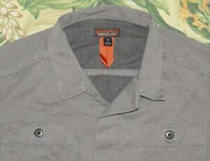 Mens PATAGONIA Hex Grey Longsleeve Button Down Shop Shirt Medium M