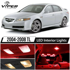 2004-2008 Acura TL Red LED Interior Lights Package Kit
