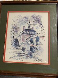 John Haymson Colonial Williamsburg Governor's Palace  Print Framed 18x16