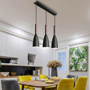 1 Set Wood Pendant Light Modern Ceiling Lights Black Lamp Home Pendant Lighting