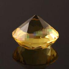 30mm Yellow Crystal Diamond Shape Paperweight Gem Display Ornament PI