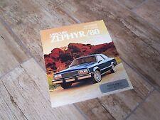 Catalogue  / Brochure MERCURY Zephyr 1980  //