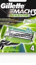 16 Gillette MACH3 Sensitive Rasierklingen, Original Klingen neu/Im Blister