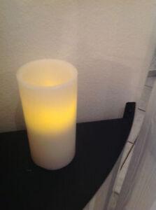 2 LED Kerze  Naturwachs  mit Folie Sterne Top Geschenkidee  Neu !