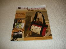 PURSES FROM PLACEMATS BOOK SOFT COVER 25 PAGES INCLUDING FRONT AND BACK