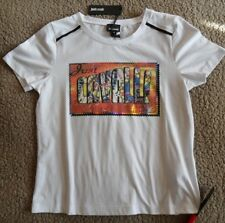 Just Cavalli t-shirt size M (10) white short sleeve crew neck brand new