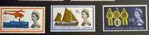GB SC 395p-397p * SG 634p-635p LIFE BOATS MNH 1963 Phosphor Commemorative Set
