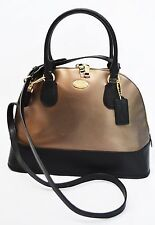 NWT Coach F36057 Crossgrain Leather Cora Domed Satchel Cross Body Handbag $395