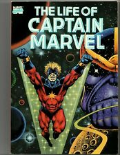 LIFE OF CAPTAIN MARVEL TPB (Marvel, 1990 Series) 1st Print VG/FN