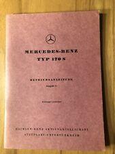 MERCEDES BENZ BETRIEBSANLEITUNG 170 S W 136 INCL. CABRIOLET A+B 1950 ANLEITUNG