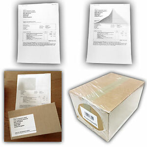 A4 Paper Sticky Address Labels eBay Amazon Order PPI Post Integrated Stickers