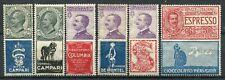 REGNO D'ITALIA 1924-25 LOTTO 6 PUBBLICITARI MLH*