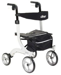 Drive Medical Nitro Rollator 10266WT White Folding Walker Adult 4 Wheels ~NEW~