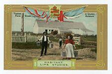 Habitant Life Studies Farm Scene QUEBEC 1907-15 Patriotic Valentine - Sallows