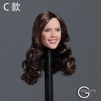 GACTOYS 1/6 GC035C Smile Girl Head Carved Long Hair F 12'' Female Body