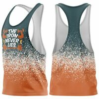 Iron Never Lies Stringer Gym Vest Mens Sleeveless Bodybuilding Muscle Fitness