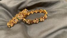 Pakistani Indian Traditional Wedding Kundan Bangles Kangan Bollywood Bracelets