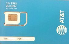 Unefon / At&T Prepaid Mexico Sim card Go Phone No Roaming Mexico Usa Canada