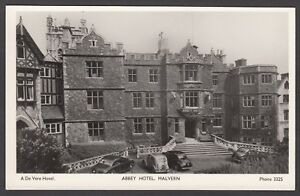 Postcard Malvern Worcestershire view of the Abbey Hotel a De Vere Hotel RP
