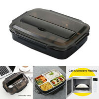 Thermal Bento Insulated Lunch Box 4 Compartments For Office Kids Stainless Steel