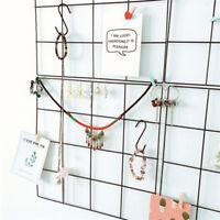 Multi-function Metal Mesh Grid Panel Wall Mounted Memo Board Geometric Photo