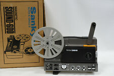 SANKYO SOUND-600 Film Movie Projector - Super-8 & Single 8mm with Manual & Box
