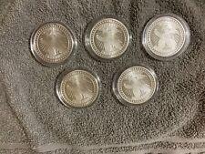 sd bullion 1 oz round liberty eagle; lot of 5