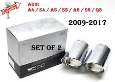 AUDI A4 S4 A5 S5 A6 S6 Q5 Exhaust Chrome Tail Pipe Tip Set GENUINE 8K0071762