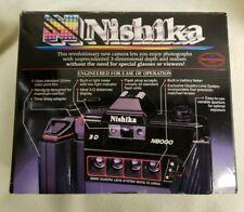 Vintage Nishika N8000 35 mm Quadrascopic Stereo 3D Lenticular Camera in box!
