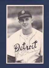 Hal Manders signed Detroit Tigers TCMA baseball postcard