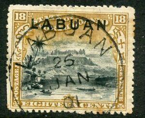 LABUAN....    1897  18c black/olive, Sg99a   used