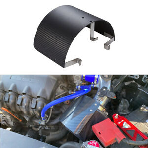 2.5-5.5inch Car Cold Air Intake Filter Iron Cover Heat Shield Carbon Fiber Look
