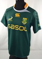 SOUTH AFRICA Home Rugby Union Shirt M Short Sleeve Canterbury Jersey Springboks
