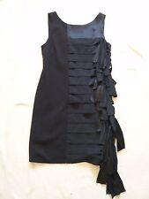 Nouveau BGBG MaxAzria V retour sans manches robe de soirée W Silk knot/Gland Détail UK 10