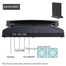 Vertical Stand Dual Cooling Fan 60*60 with 3USB HUB for PS4 Slim PS4 Pro Console