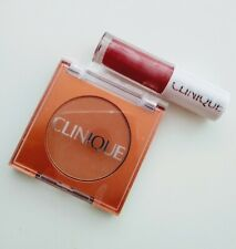 Clinique True Bronze Pressed Powder Bronzer pop lip gloss Sunkissed Travel Size