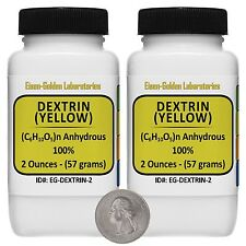 Yellow Dextrin [(C6H10O5)n] 100% ACS Grade Powder 4 Oz in TWO Bottles USA