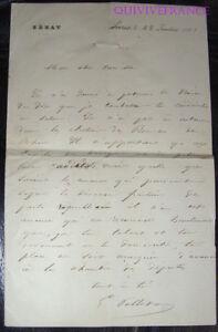 LAS EUGENE PELLETAN à son flis CAMILLE PELLETAN 1881 Elections Salon de Provence
