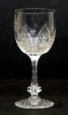 1800's STUNNING! Antique BRILLIANT Fine Cut HOLLOW STEM Wine Glass / ENGLISH?