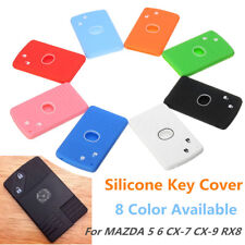 Silicone 2 Buttons Smart Card Key Case Cover Fob For MAZDA 5 6 CX-7 CX-9 RX8