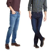 Mens Wrangler 'Arizona' Jeans - Soft Lux Stretch Denim - Classic Straight Fit