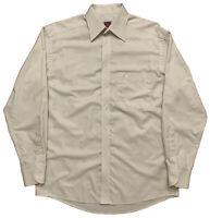 VTG Eton Mens Size 39-15 1/2 Long Sleeve Dress Shirt Button Cream White Sweden